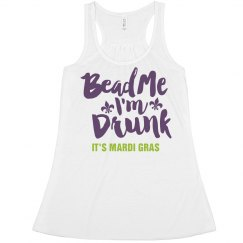 Bead Me I'm Drunk Mardi Gras Tank