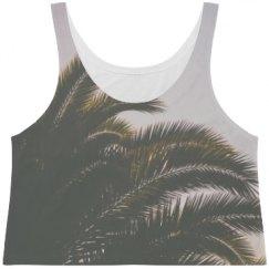 Palm tree crop top