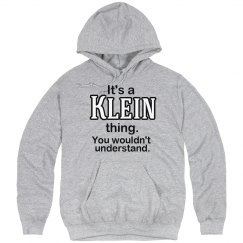 Its a Klein thing