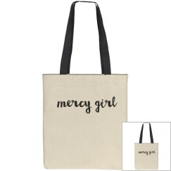 Mercy Girl Tall Canvas Tote