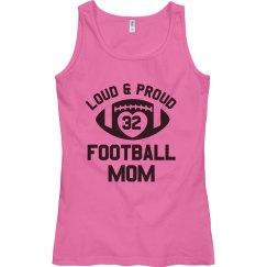 Proud Football Mom Custom Number