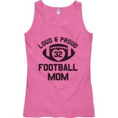 Proud Football Mom Custom Number