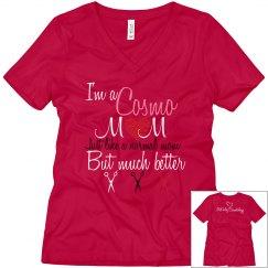 Cosmo Mom V-Neck Red