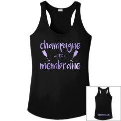 Champagne in the membrane tank