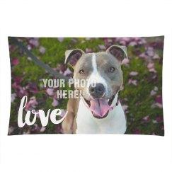 Cute Love Custom Photo Pillow
