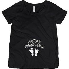 Halloween Baby Skeleton Footprints