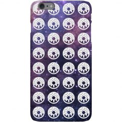 Space Donuts Print iPhone Case
