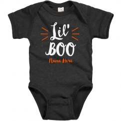 Lil' Boo Custom Name Baby Halloween Bodysuit