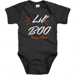 Lil' Boo Custom Name Baby Halloween Bodysuit
