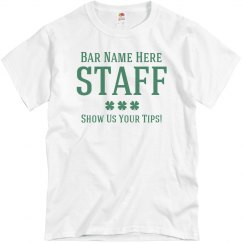 Funny St Patricks Bar Staff