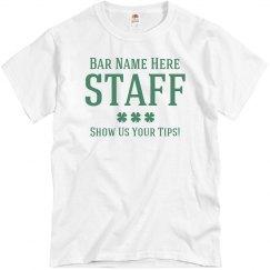 Funny St Patricks Bar Staff