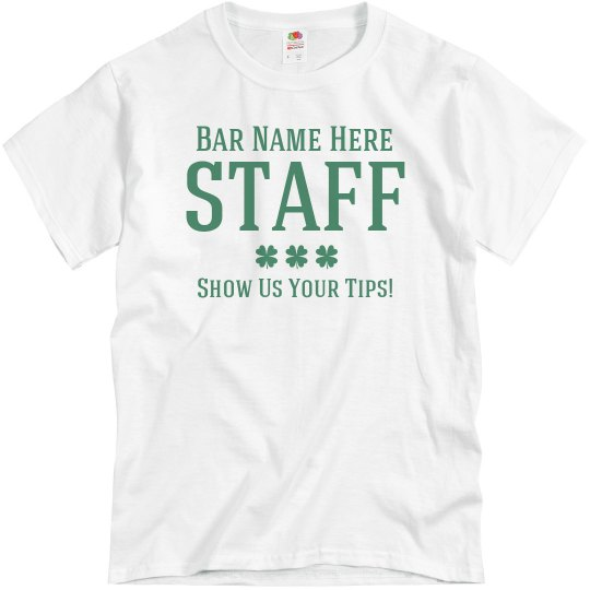 284e6d47a Funny St Patricks Bar Staff Unisex Basic Promo T-Shirt