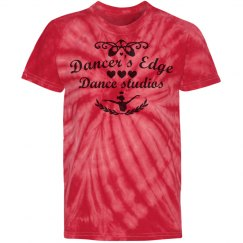 Dancer's edge tie-dye tee