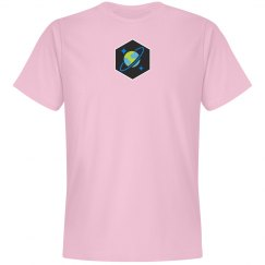 Cosmos DB Logo Hex Tee Pink