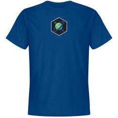 Cosmos DB Logo Hex Tee Blue