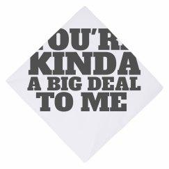 dog valentine's day scarf