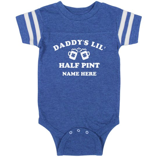 Custom Daddy S Lil Half Pint Infant Vintage Sports Bodysuit