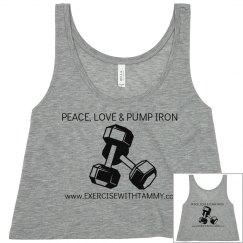 PEACE,LOVE & PUMP IRON