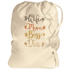 Wife Mom Boss Diva Laundry Bag