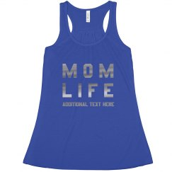 Metallic Custom Mom Life