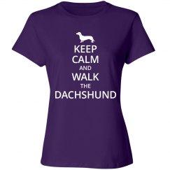 Keep calm and walk the Dachshund