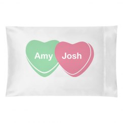 Candy Heart Pillow Love