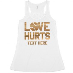 Love Hurts Trendy Tennis Crop