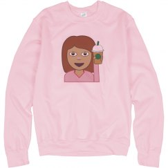Coffee Emoji Girl Sweater