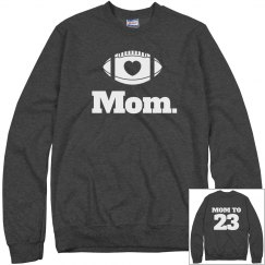 Trendy Football Mom Sweats With Custom Name Number