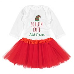 So Elfin' Cute Christmas Add Name