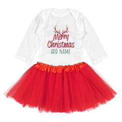 Custom Merry Christmas Reindeer Bodysuit