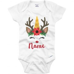 Reindeer Unicorn Crown Custom Name