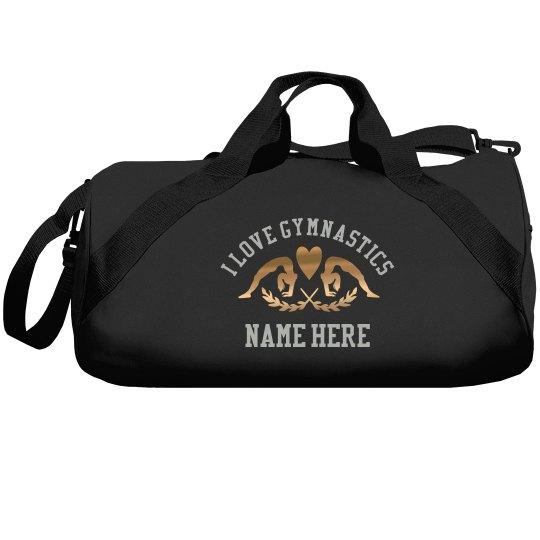 d6b83cddfcaa Metallic Custom Gymnastics Bag Liberty Bags Barrel Duffel Bag