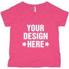 Custom Curvy Tee Design