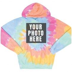 Tie-Dye Photo Hoodie