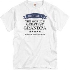 World's greatest grandpa shirt