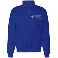 CAR Unisex Cadet Collar Sweatshirt ROYAL