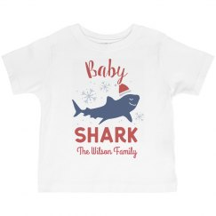 Baby Shark Matching Family Christmas Custom Shirts