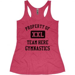 Property of Team Name Custom Gymnastics Tank