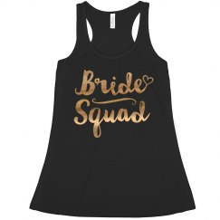 Gold Metallic Bride Squad