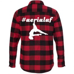 #aerialaf long sleeve red black plaid