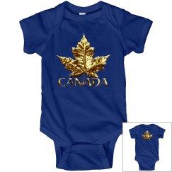 Canada Souvenir Baby Bodysuit - Sporty Gold Medal