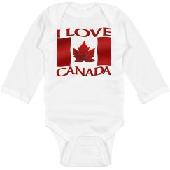 Canada Baby Bodysuit - I Love Canada Baby Souvenirs