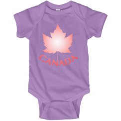 Canada Souvenir Baby Bodysuit Pink Canada One-piece