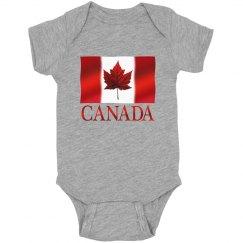 Canada Souvenir Baby Bodysuit Canada Flag Baby Gifts
