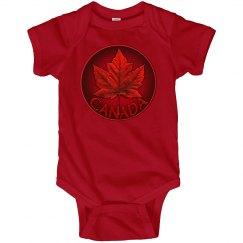 Canada Souvenir Baby Bodysuit Canada Maple Leaf Gifts