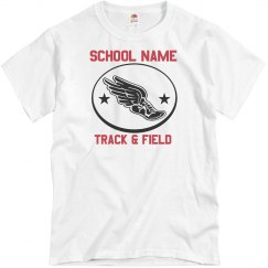 Flying Shoe Track & Field Tee