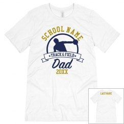 Track Dad Custom School Tee