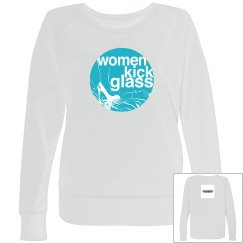 Women Kick Glass Logo Curvy Girl SweatShirt