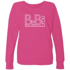 Pink Crew Neck with White Logo